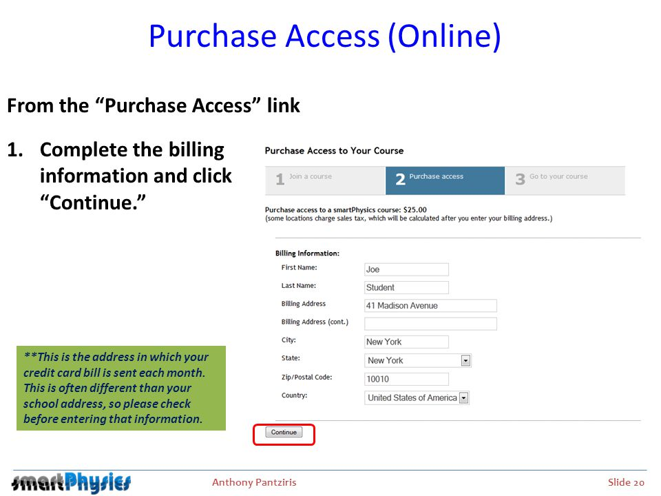 Purchase Access (Online)