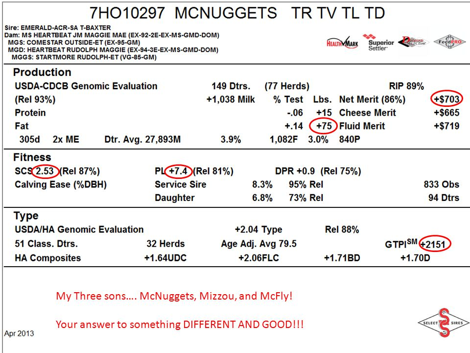 My Three sons…. McNuggets, Mizzou, and McFly!
