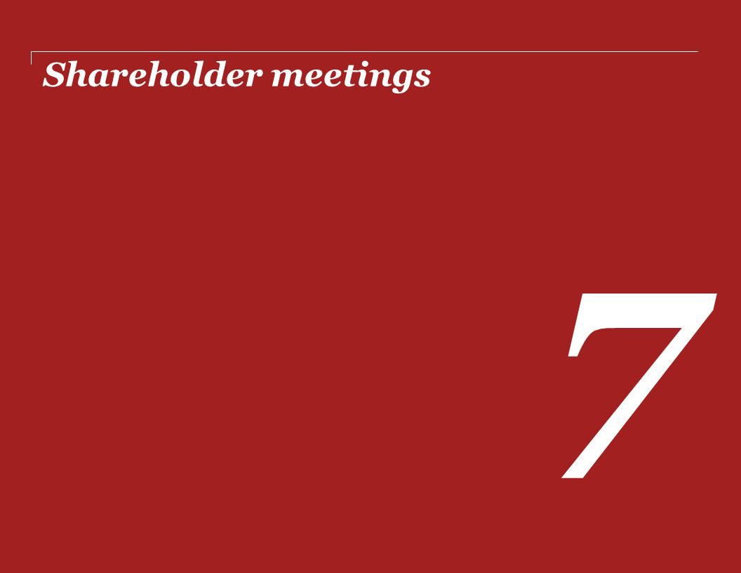Shareholder meetings 7