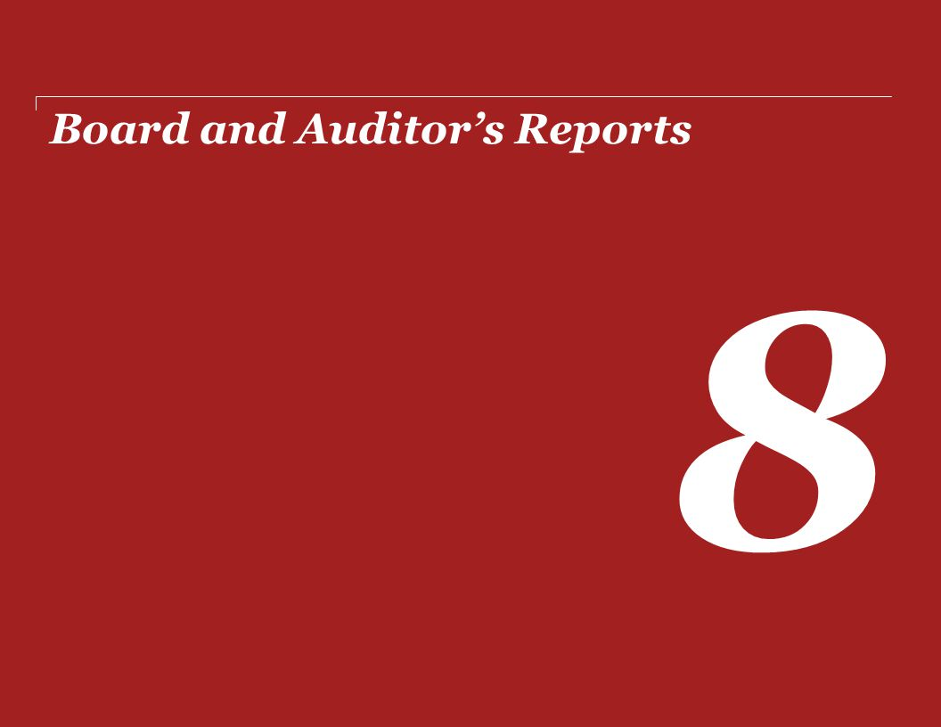 Board and Auditor's Reports