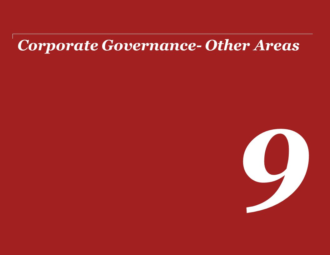 Corporate Governance- Other Areas
