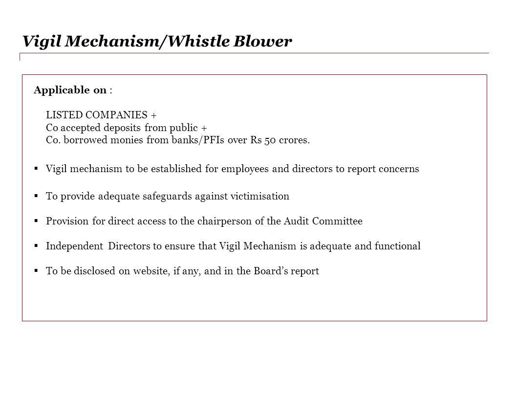 Vigil Mechanism/Whistle Blower