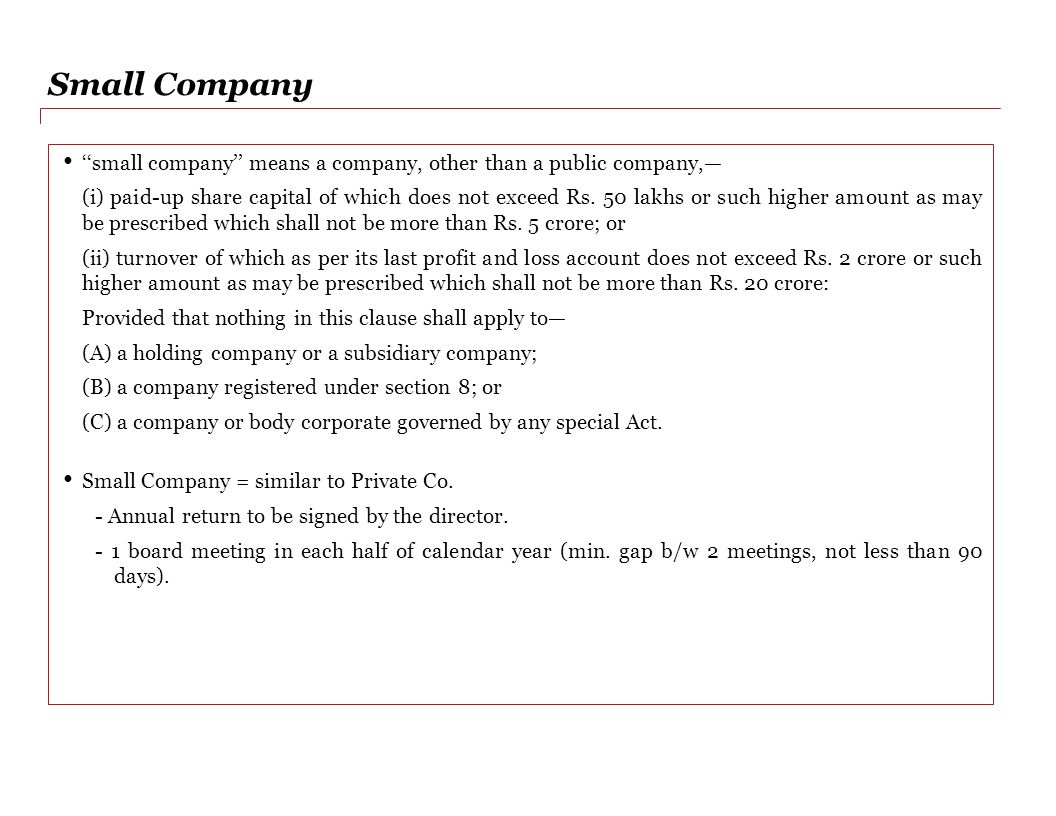 Calendar Year Under Companies Act : Companies act strictly private and confidential draft