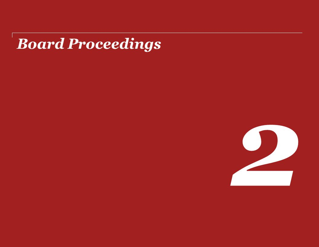 Board Proceedings 2