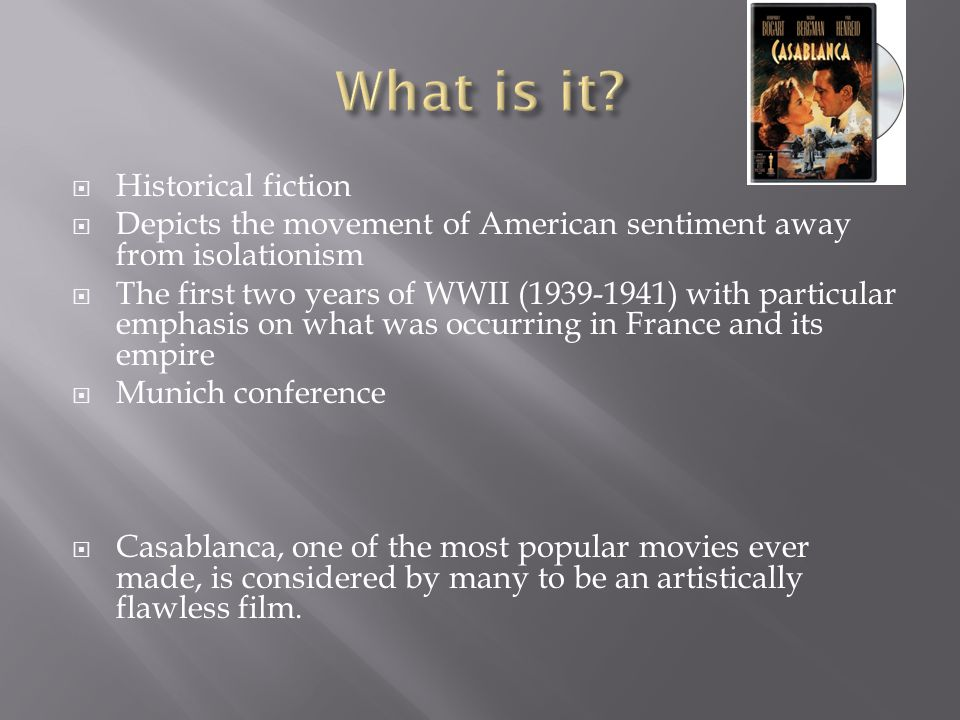 What is it Historical fiction