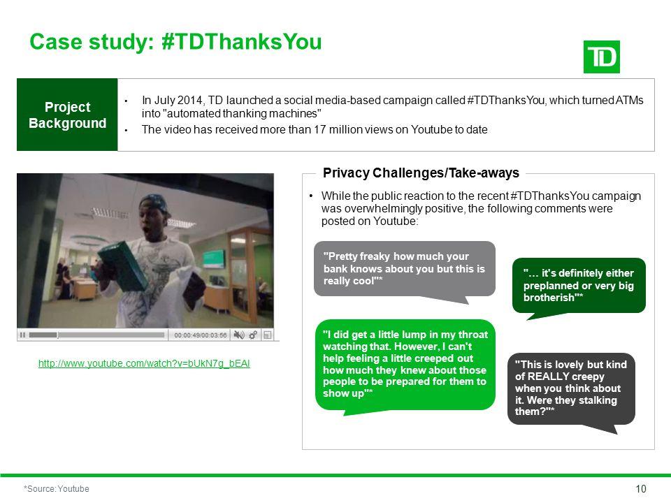 Case study: #TDThanksYou