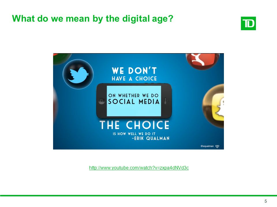 What do we mean by the digital age