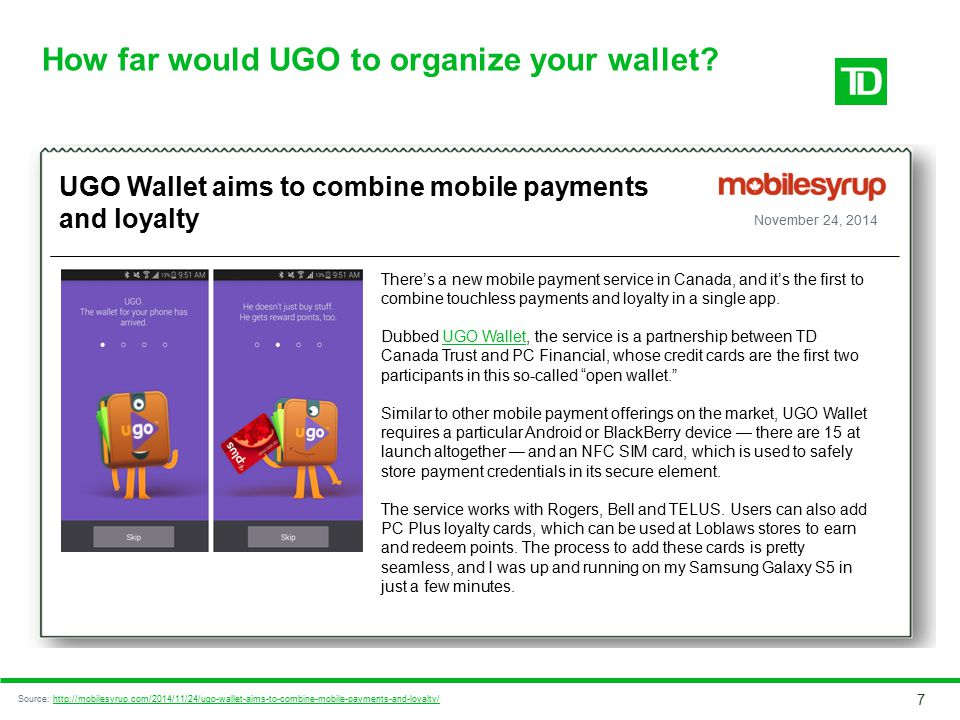 How far would UGO to organize your wallet
