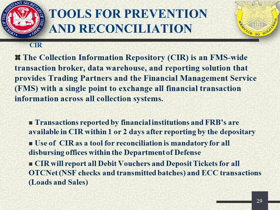 Tools for prevention and reconciliation