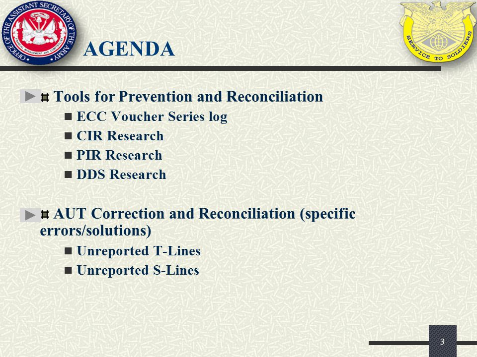 Agenda Tools for Prevention and Reconciliation
