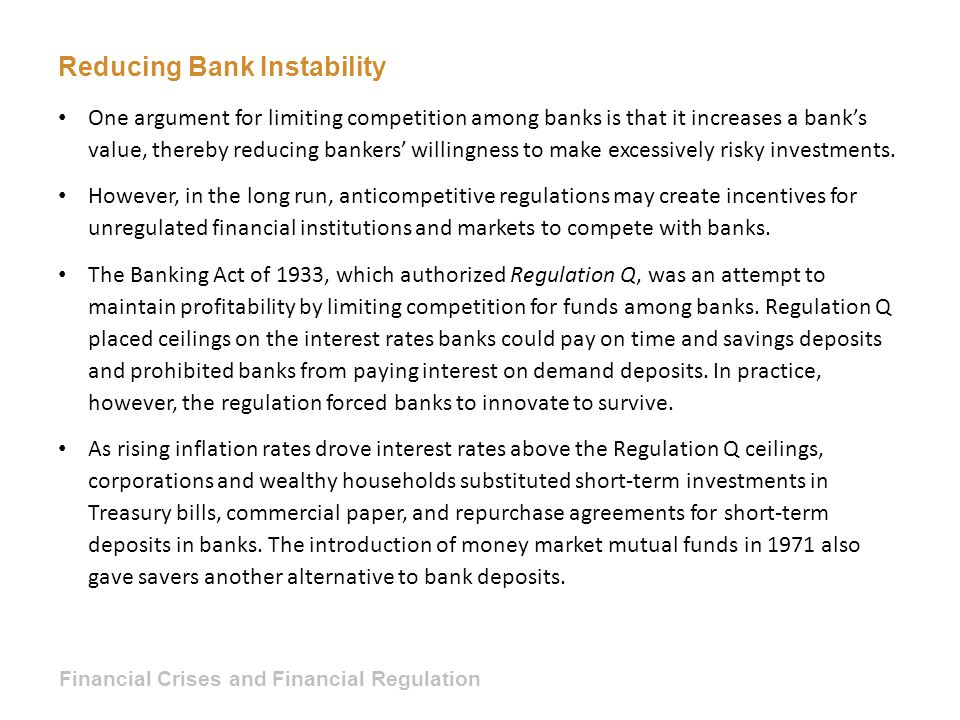 Reducing Bank Instability
