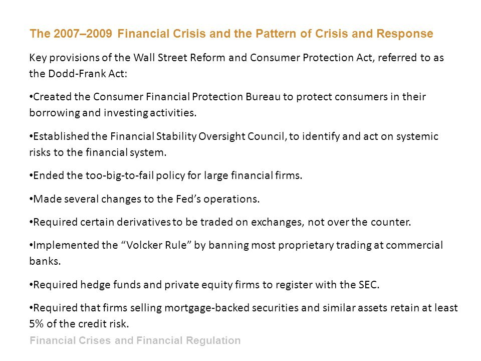 The 2007–2009 Financial Crisis and the Pattern of Crisis and Response