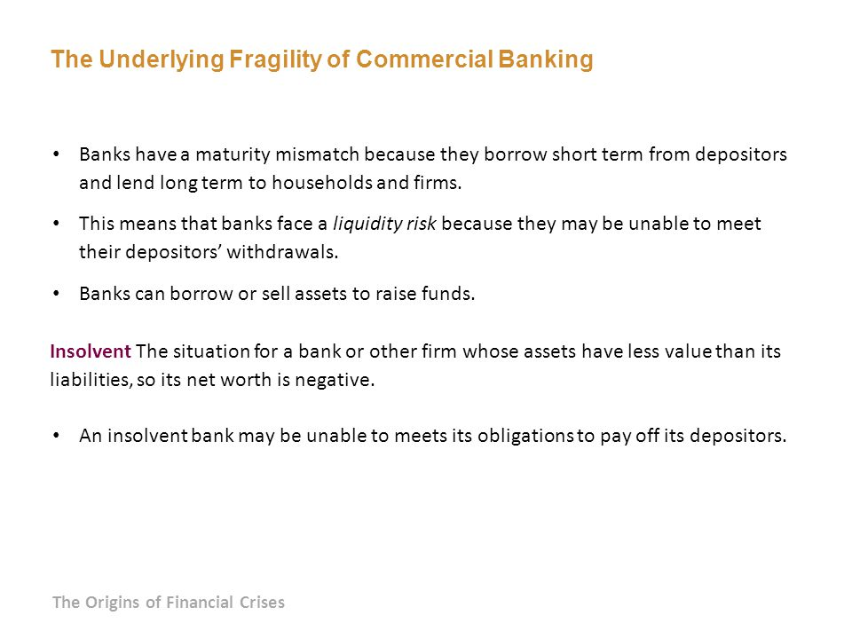 The Underlying Fragility of Commercial Banking