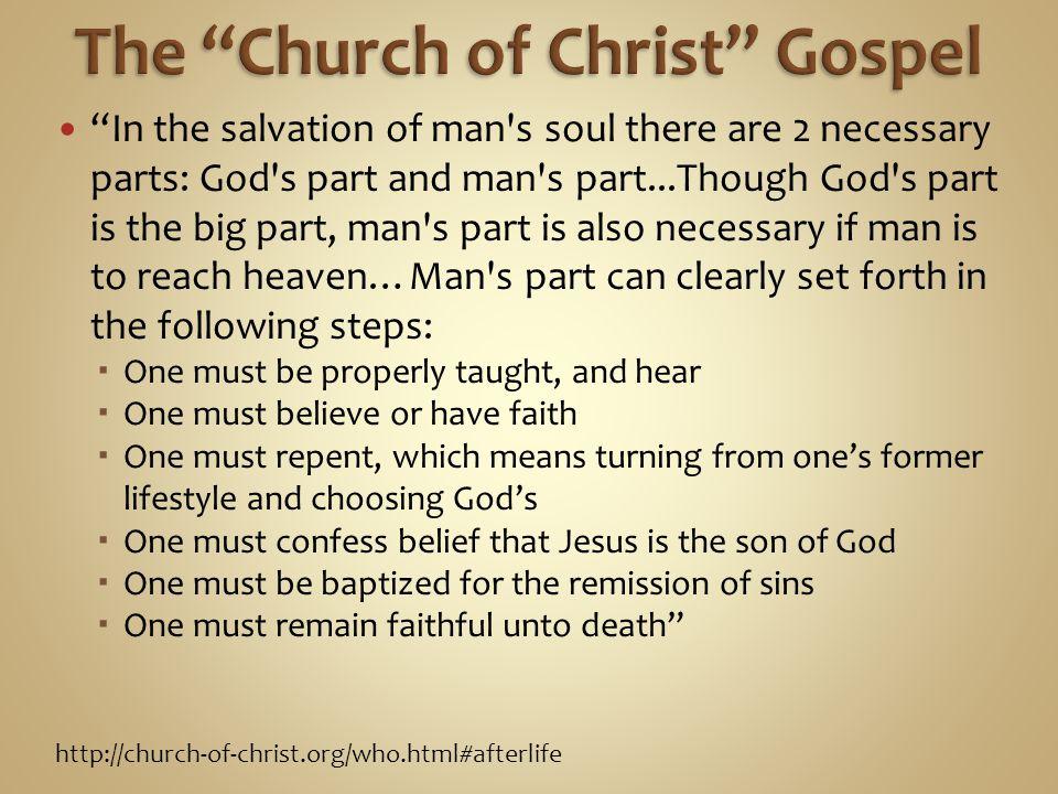 The Church of Christ Gospel