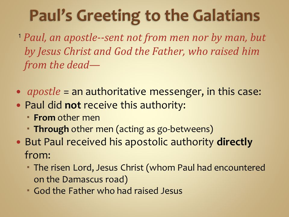 Paul's Greeting to the Galatians