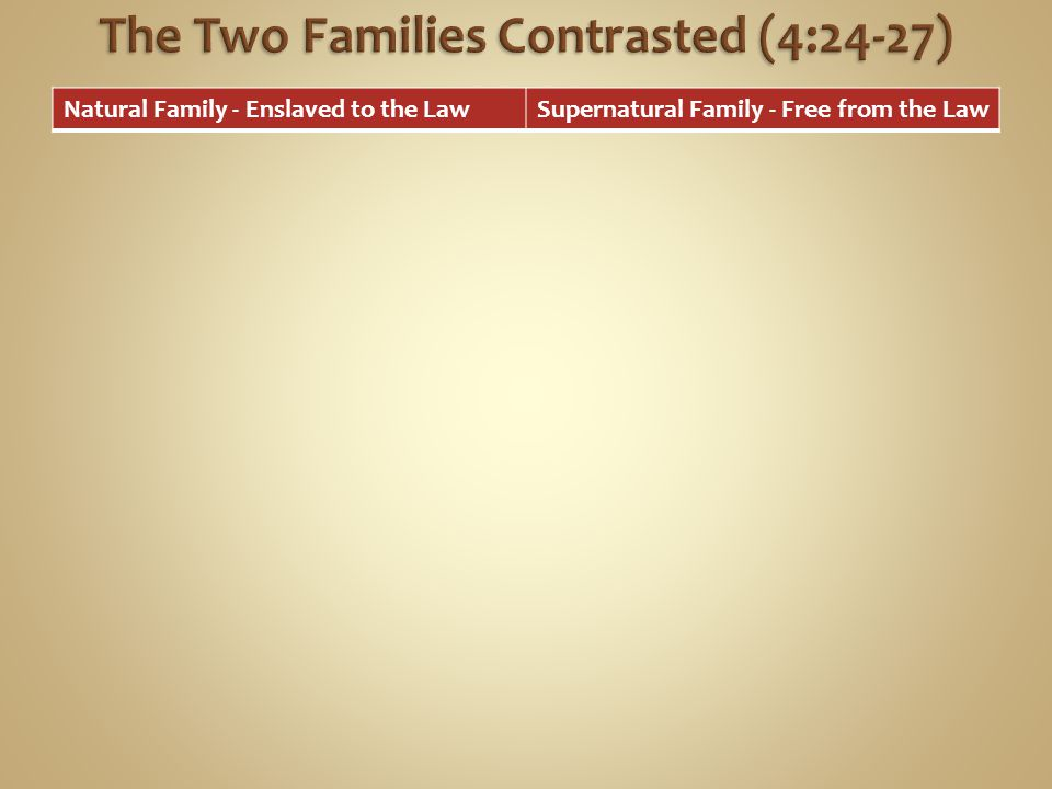 The Two Families Contrasted (4:24-27)