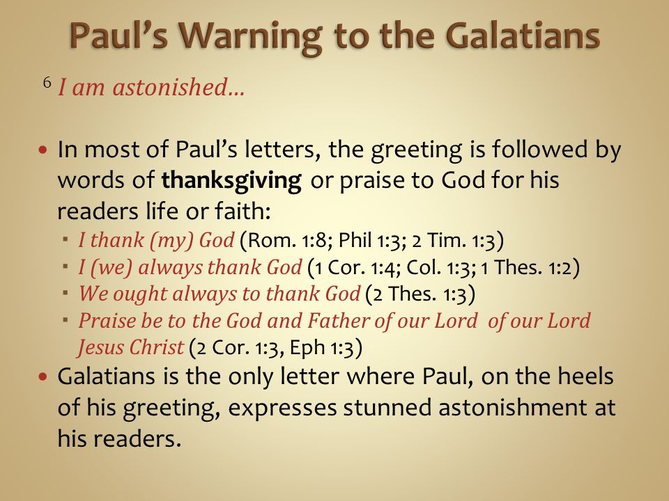 Paul's Warning to the Galatians