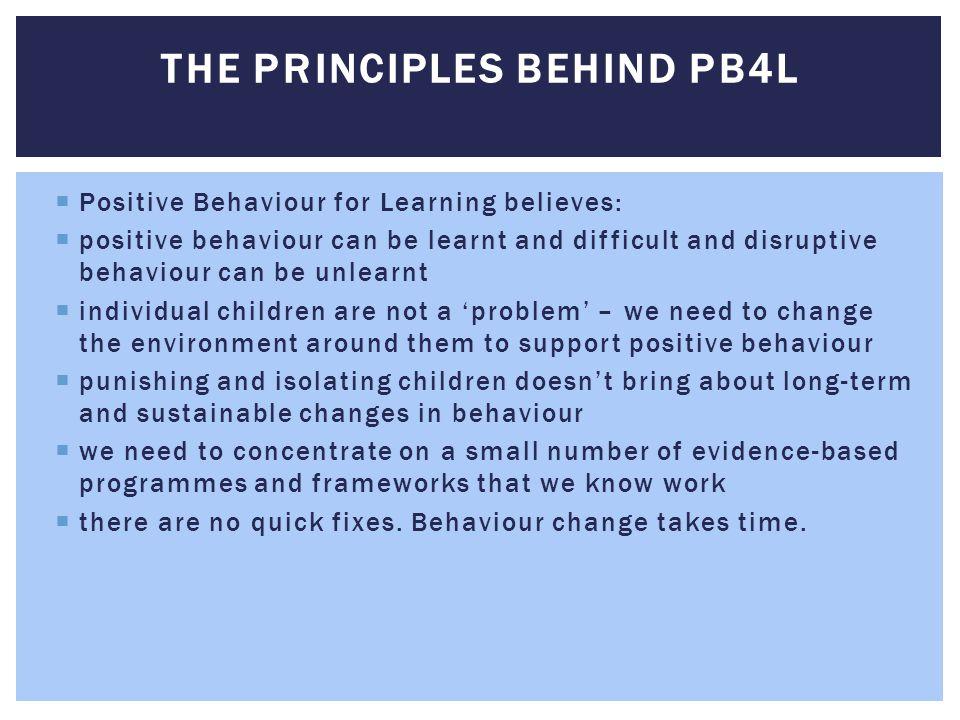 The principles behind PB4L