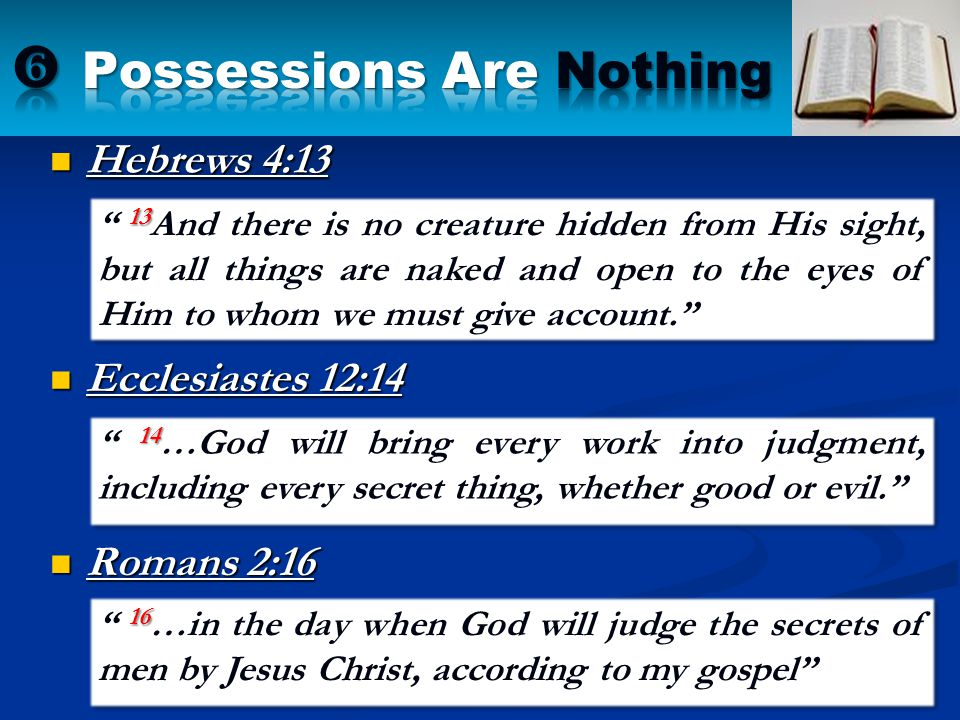  Possessions Are Nothing