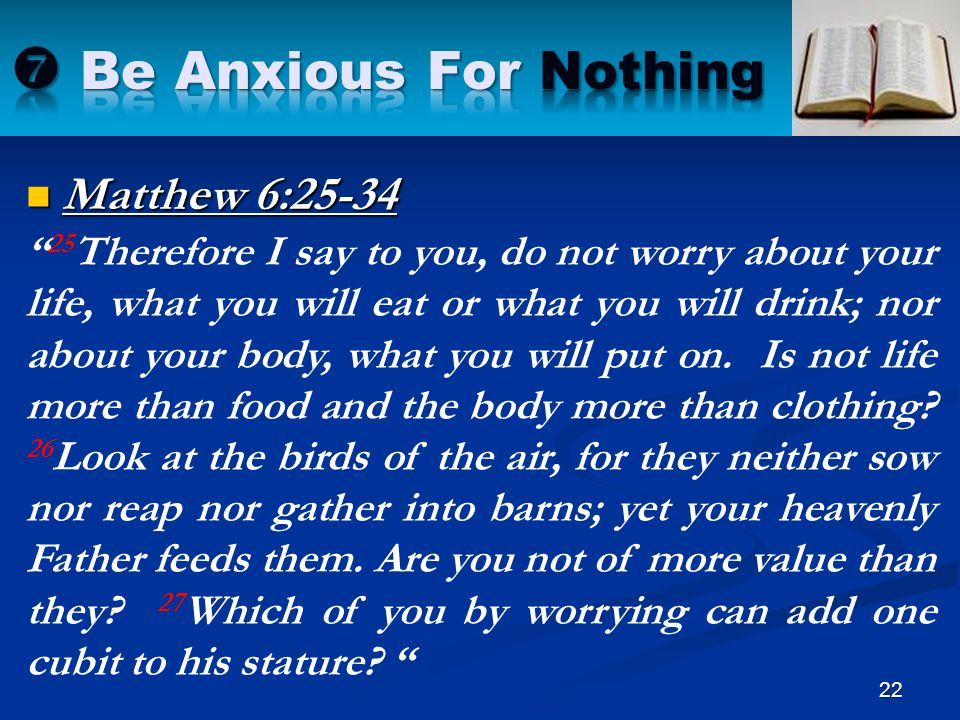  Be Anxious For Nothing