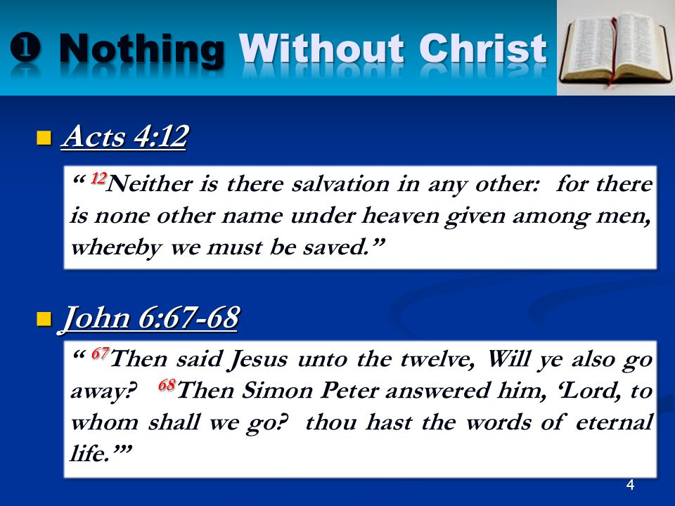  Nothing Without Christ