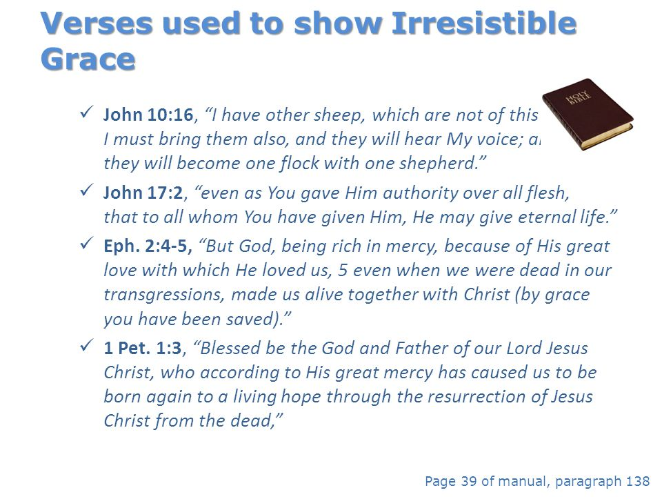 Verses used to show Irresistible Grace