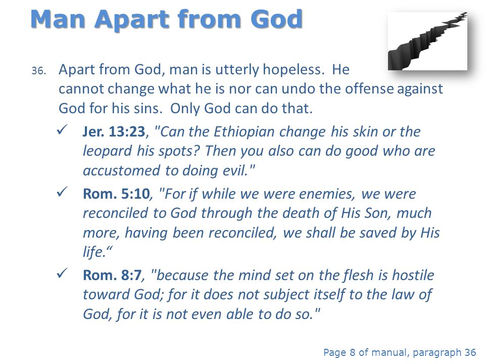 Man Apart from God