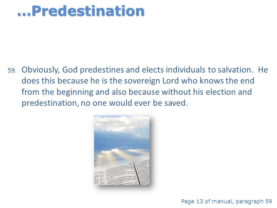 …Predestination