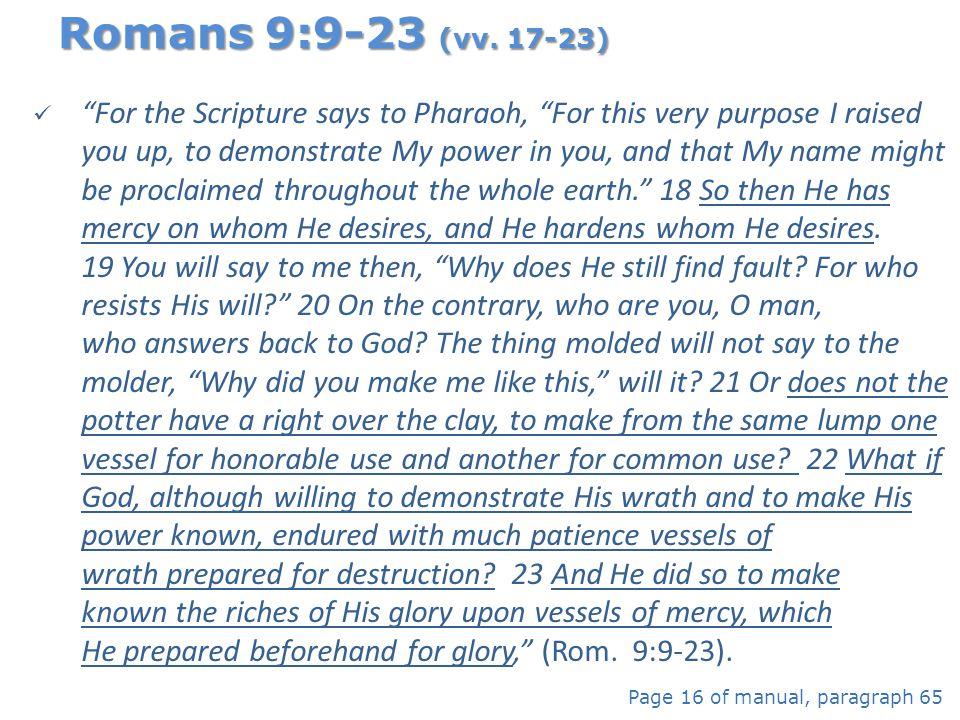 Romans 9:9-23 (vv. 17-23)