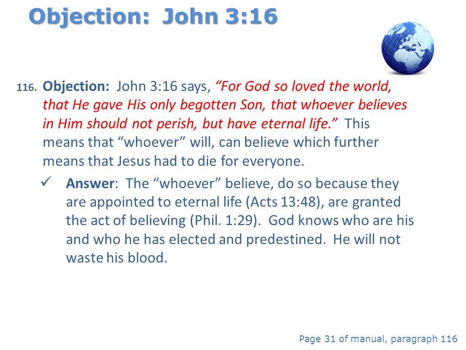 Objection: John 3:16