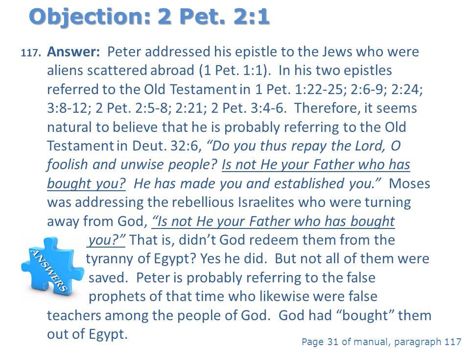 Objection: 2 Pet. 2:1