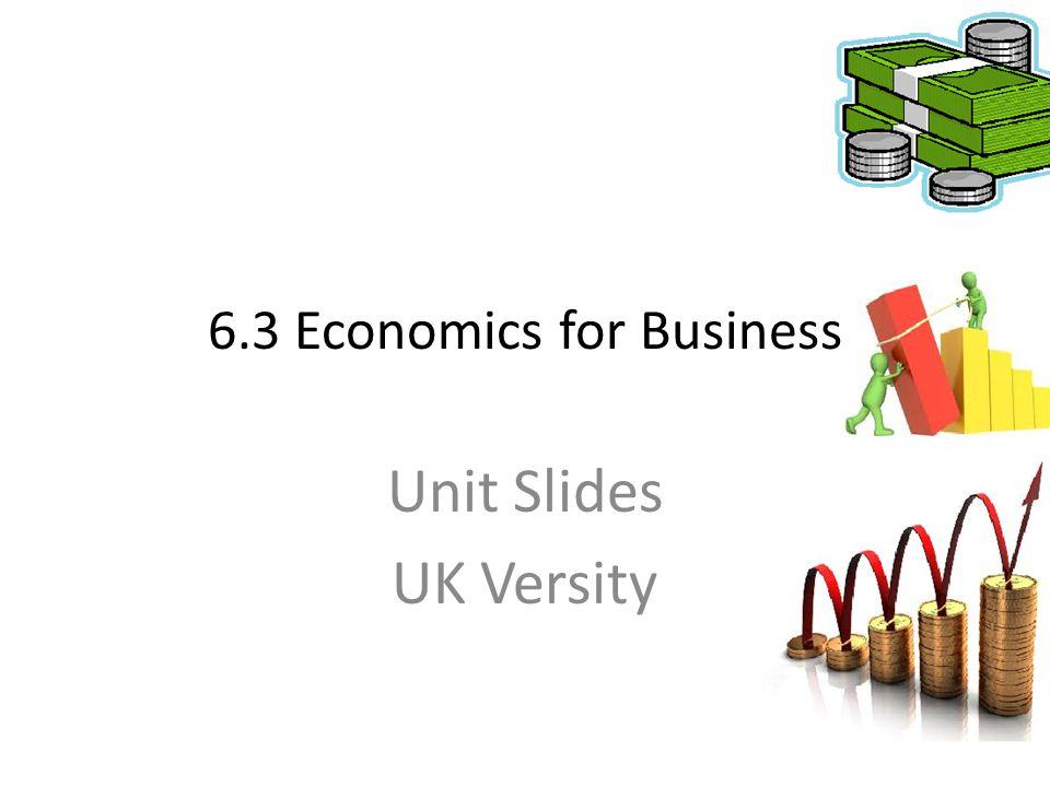 6.3 Economics for Business