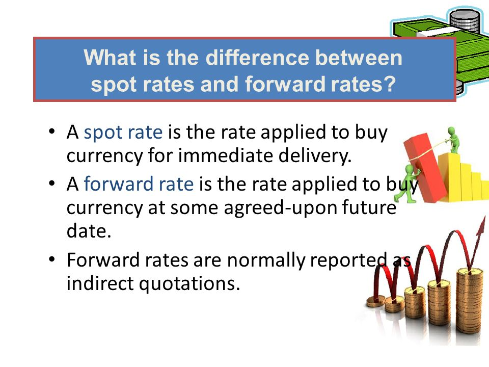 What is the difference between spot rates and forward rates