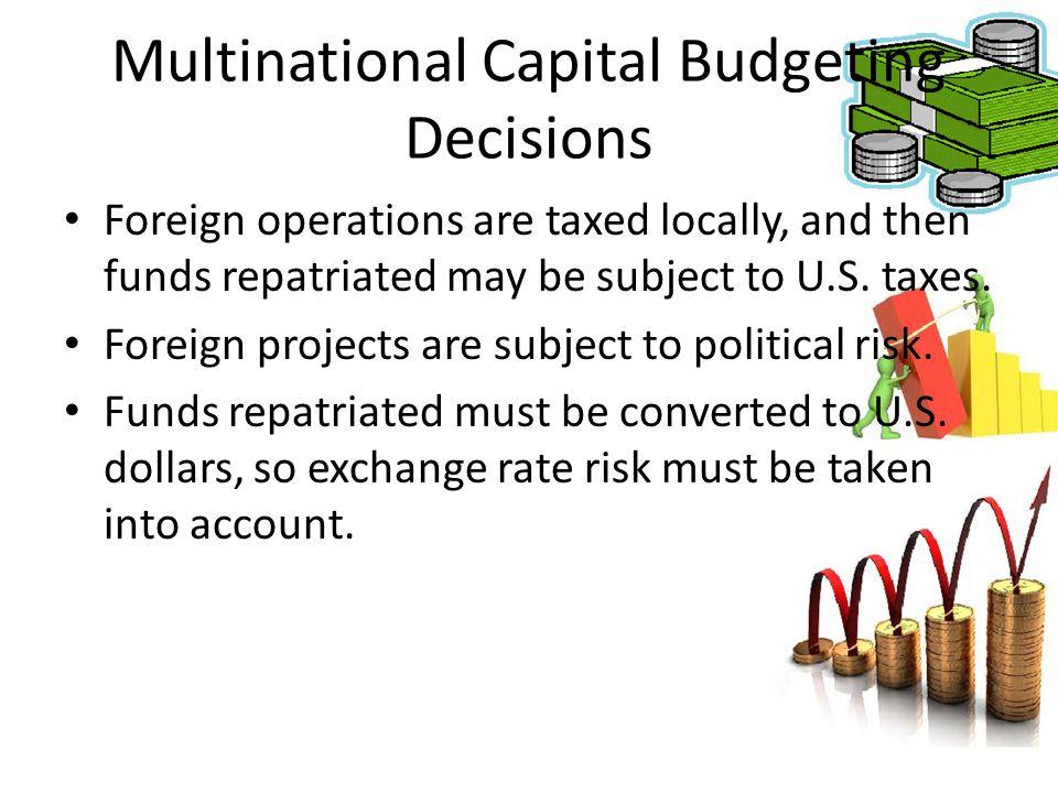 Multinational Capital Budgeting Decisions