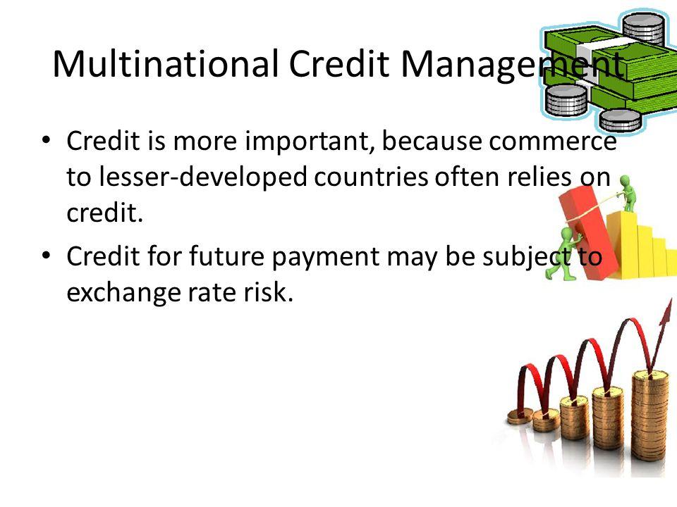 Multinational Credit Management