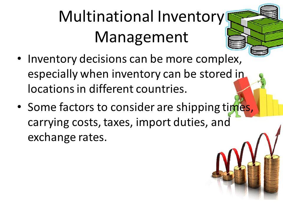 Multinational Inventory Management