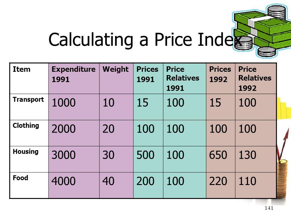 Calculating a Price Index