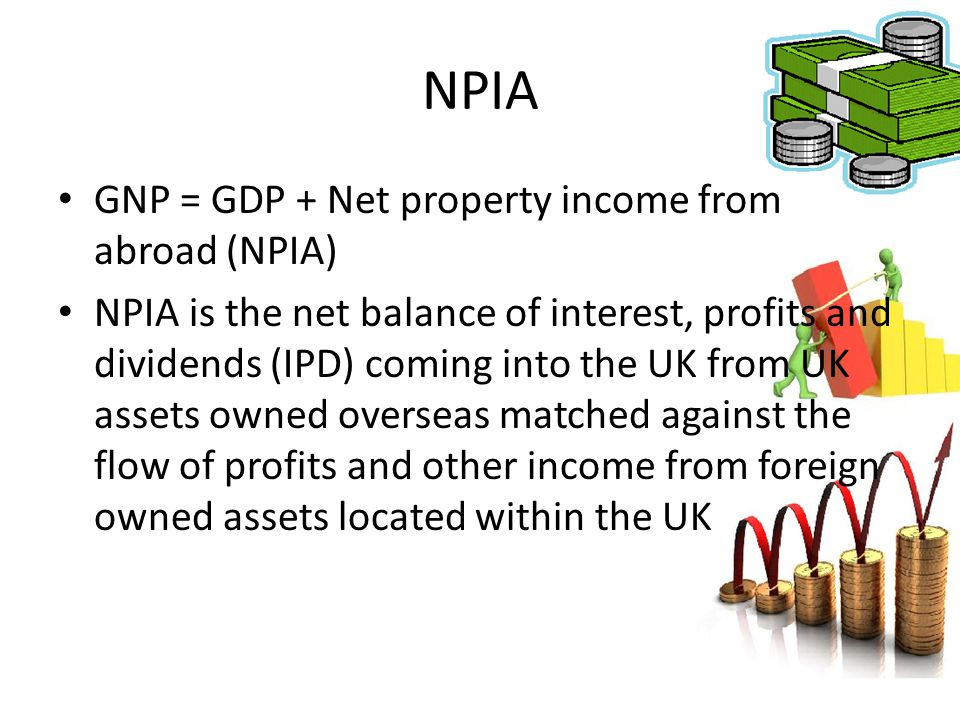 NPIA GNP = GDP + Net property income from abroad (NPIA)
