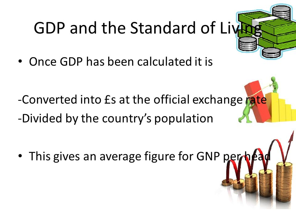 GDP and the Standard of Living