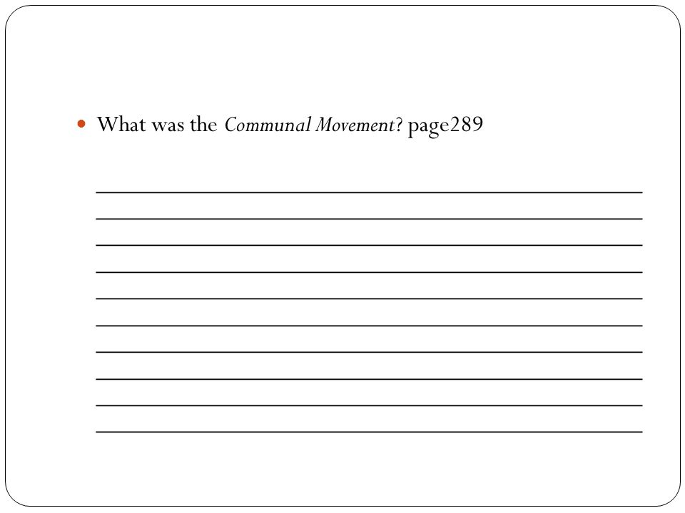 What was the Communal Movement page289