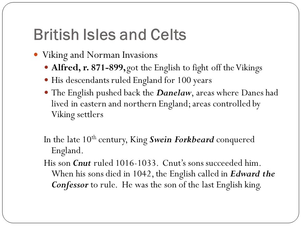 British Isles and Celts