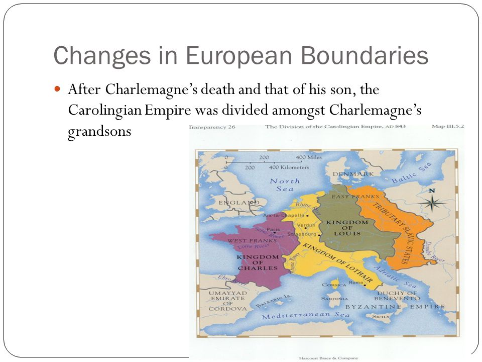 Changes in European Boundaries