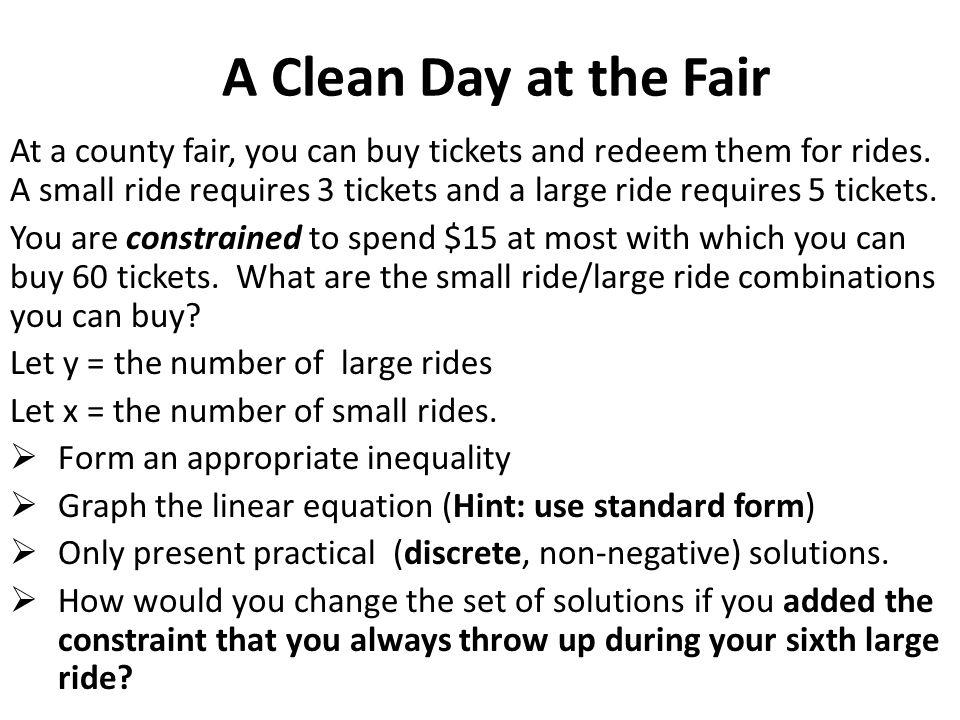 A Clean Day at the Fair