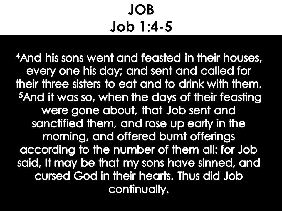 JOB Job 1:4-5