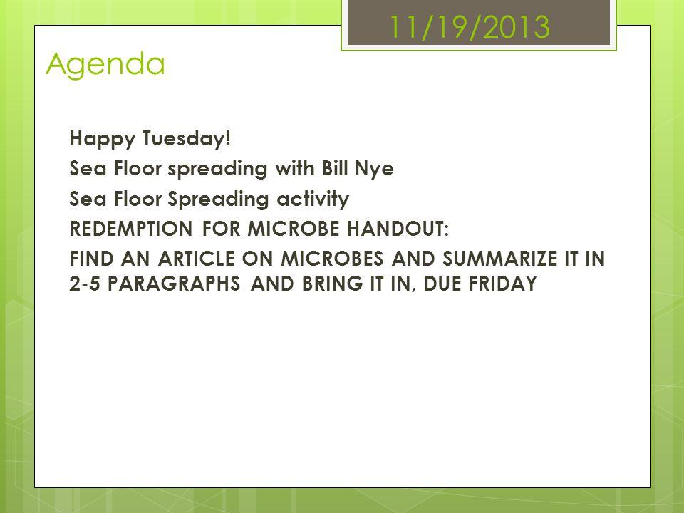 11/19/2013 Agenda