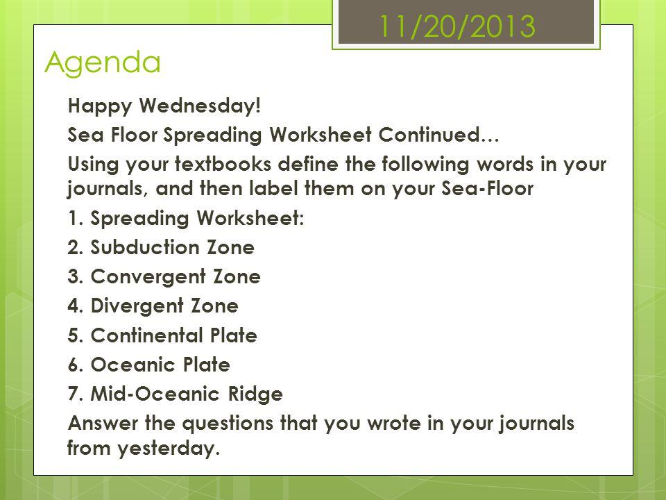 11/20/2013 Agenda