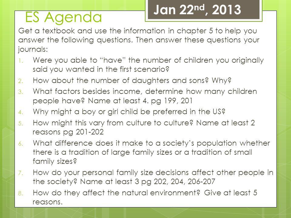 Jan 22nd, 2013 ES Agenda.
