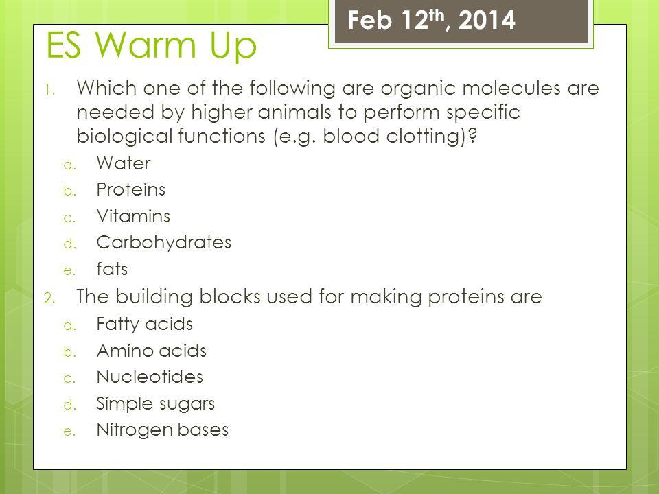 Feb 12th, 2014 ES Warm Up.
