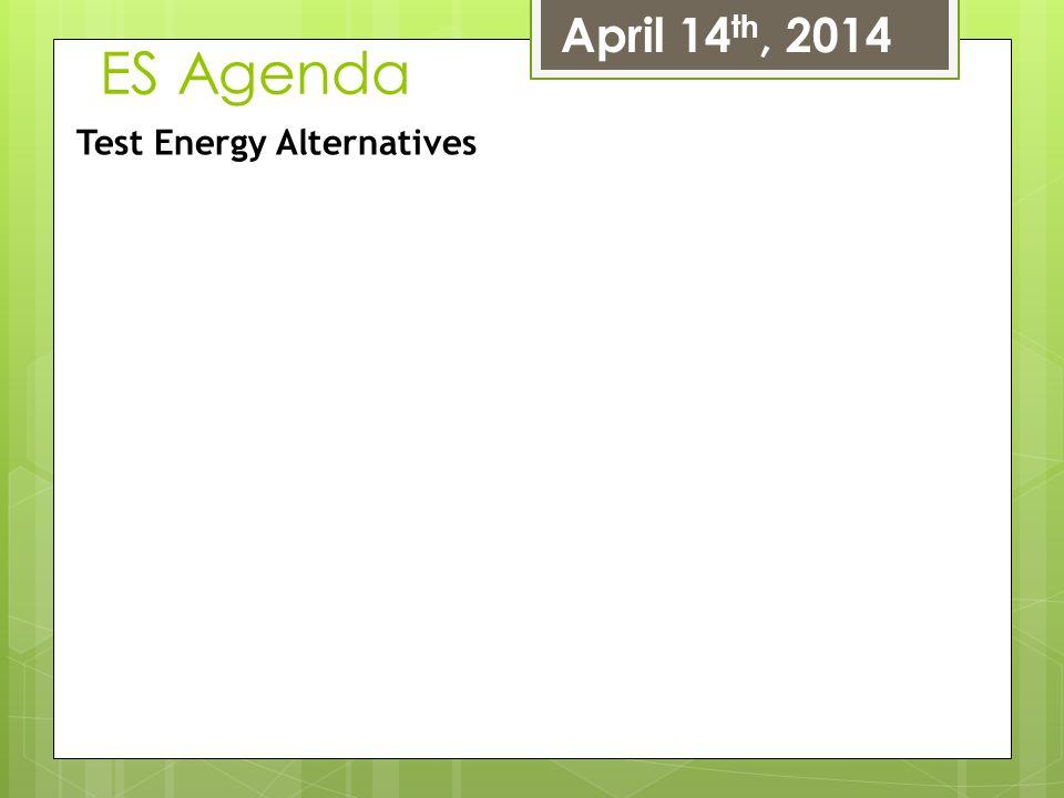 April 14th, 2014 ES Agenda Test Energy Alternatives