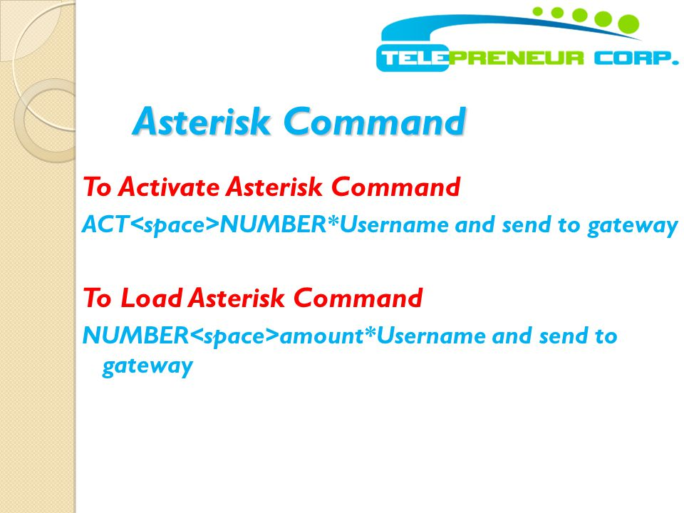 Asterisk Command To Activate Asterisk Command To Load Asterisk Command